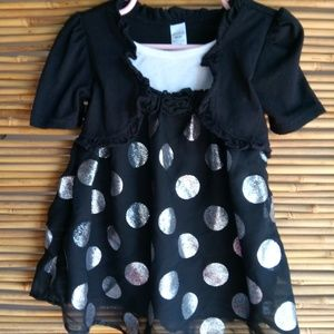 George Navy & White Polka Dot Sz 3T